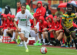 26.07.2015, Prien am Chiemsee, GER, Testspiel, FC Augsburg vs Norwich City, im Bild Markus Feulner (FC Augsburg #8) spielt den Ball, // during the International Friendly Football Match between FC Augsburg and Norwich City in Prien am Chiemsee, Germany on 2015/07/26. EXPA Pictures © 2015, PhotoCredit: EXPA/ Eibner-Pressefoto/ Krieger<br /> <br /> *****ATTENTION - OUT of GER*****