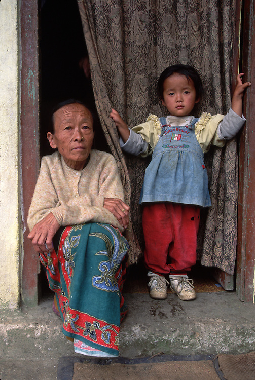 Mother and son, Sikkim, India. 1996