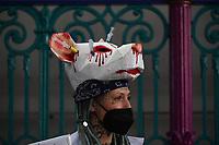 Animal Rebellion protest march. mithfield Meat Market through london photo by Krisztian Elek<br />  ·