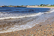 Shoreline along the Gulf of St. Lawrence<br /> Godbout<br /> Quebec<br /> Canada