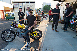 At See See Motor Coffee shop in Portland preparing for the Dirt Quake races. OR., USA. May 30, 2014.  Photography ©2014 Michael Lichter.