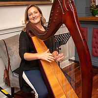 REPRO FREE<br /> Pictured at the opening of the 43rd Kinsale Gourmet Festival at the Blue Haven was harpist Mairead Kelly.<br /> Picture. John Allen
