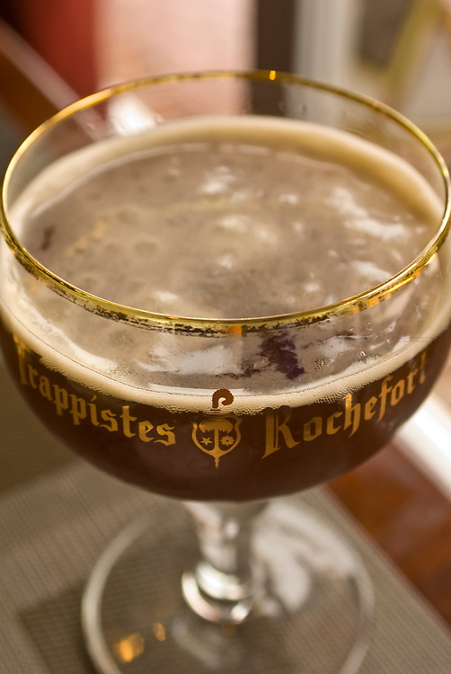 Trappistes Rochefort (a Belgian beer), Belga Cafe, Washington D.C., U.S.A.