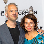 NLD/Amsterdam//20191003 - Première The Book of Mormda,. ,Sandra Mattie en partner