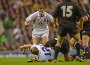 Twickenham. Surrey. UK England vs New Zealand, Autumn Internationals.<br /> <br /> 09/11/2002<br /> International Rugby England vs New Zealand<br /> Will GREENWOOD, playing back<br /> <br /> [Mandatory Credit: Peter SPURRIER/Intersport Images]