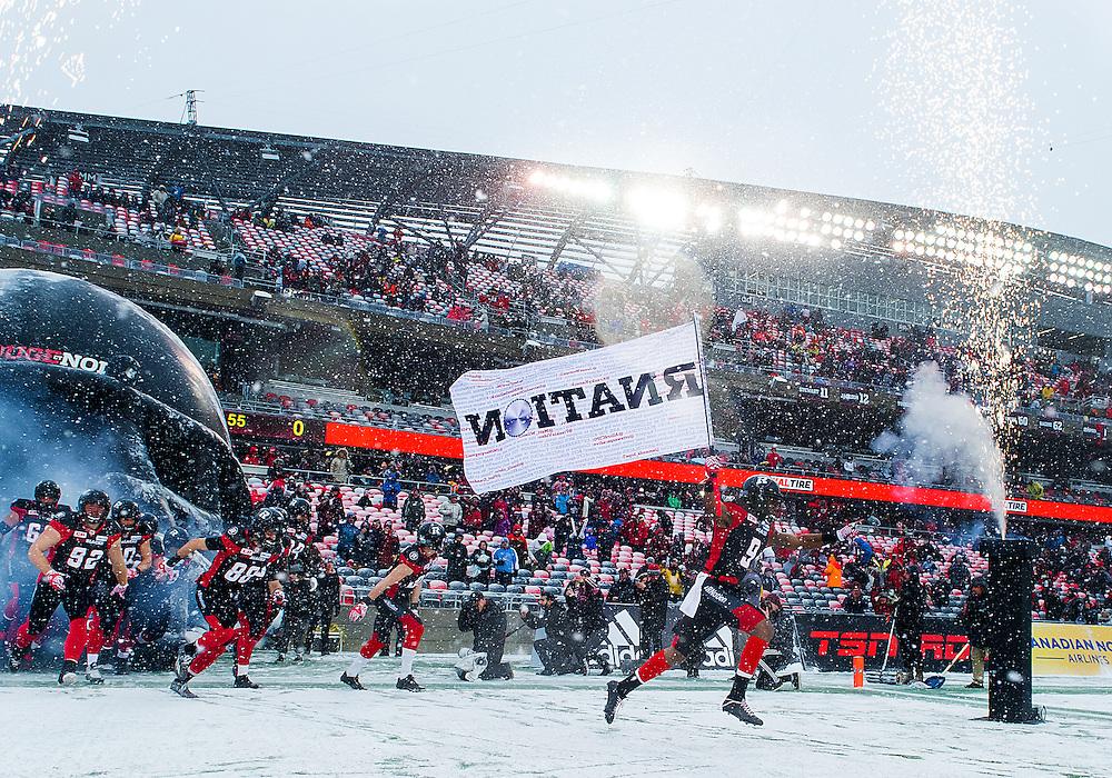 The CFL Eastern Final between the Ottawa RedBlacks and the Edmonton Eskimos at TD Place Stadium in Ottawa, ON. Canada on Nov. 20, 2016.<br /> <br /> PHOTO: Steve Kingsman/Freestyle Photography