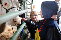 Los Padres Elementary School students get some quality time with animals at Salinas' annual Farm Day on Thursday. Thousands of area children spent the morning learning about farming practices, healthy foods, ranch and farm animals, and agricultural technology.