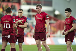 September 9, 2017 - Limerick, Ireland - Ian Keatly (L), Andrew Conway, Chris Farrell and Alex Wootton of Munster during the Guinness PRO14 rugby match between Munster Rugby and Cheetahs Rugby at Thomond Park in Limerick, Ireland on September 9, 2017  (Credit Image: © Andrew Surma/NurPhoto via ZUMA Press)