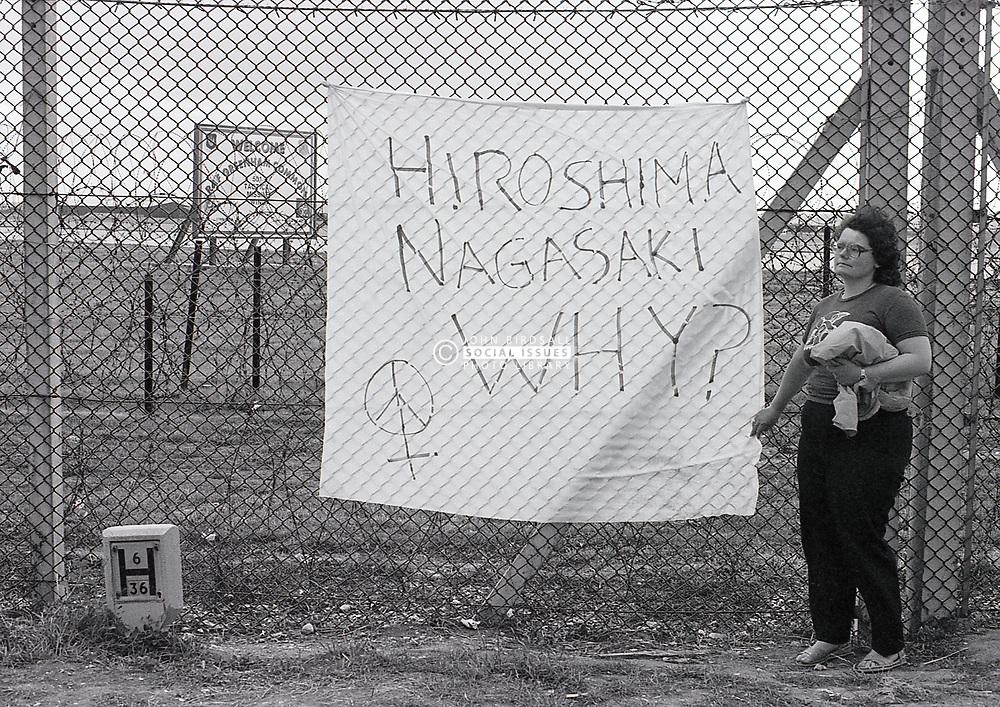Greenham Common peace camp, UK August 1984