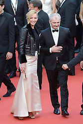 Uma Thurman and Karel Och arriving at the Nelyubov (Loveless) screening held at the Palais Des Festivals in Cannes, France on May 17, 2017, as part of the 70th Cannes Film Festival. Photo by Aurore Marechal/ABACAPRESS.COM