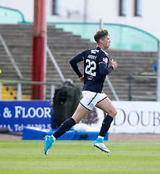 Dundee's Jack Hendry celebrates after scoring their goal. Dundee 1 v 2 Ross County, Scottish Premiership game played 5/8/2017 at Dundee's home ground Dens Park.
