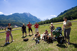 Spectators at MTB Downhill European Championships, on June 14, 2009, at Kranjska Gora, Slovenia. (Photo by Vid Ponikvar / Sportida)