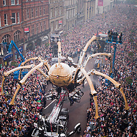 Over 50,000 people came to see La Machine on Saturday.  More people lined Castle Street for this event than when the Beatles returned to Liverpool.