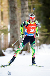 Raman Yaliotnau (BLR) competes during Men 12,5 km Pursuit at day 3 of IBU Biathlon World Cup 2015/16 Pokljuka, on December 19, 2015 in Rudno polje, Pokljuka, Slovenia. Photo by Ziga Zupan / Sportida