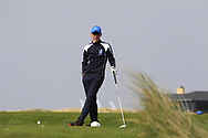 Matthew O'Brien (Blackrock College) on the 10th tee during the final of the Irish Schools Senior Championship at Portstewart Golf Club, Portstewart, Co Antrim on Tuesday 23rd April 2019.<br /> <br /> Picture:  Thos Caffrey / www.golffile.ie<br /> <br /> All photos usage must carry mandatory copyright credit       (© Golffile | Thos Caffrey)
