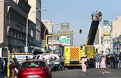 South Africa - Durban - 09 June 2020 - The part of the building at the corner of Dr Yusuf Dadoo and Dr Goonam street has collapsed in the Durban CBD. So far, One person has tragically died . Several others are believed to be entrapped in the building, Emergency services are on the scene.<br /> Picture Motshwari Mofokeng/African News Agency(ANA)