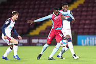 Abo Eise ,Ricardo Alexandre Almeida Santos during the EFL Sky Bet League 2 match between Scunthorpe United and Bolton Wanderers at the Sands Venue Stadium, Scunthorpe, England on 24 November 2020.