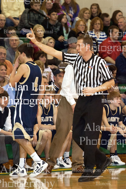 17 February 2012: Central Catholic Saints visit University High Pioneers in Normal Illinois
