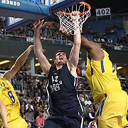 Anadolu Efes's Stanko BARAC (C) during their Turkish Airlines Euroleague Basketball Group C Game 4 match Anadolu Efes between Maccabi Tel Aviv at Sinan Erdem Arena in Istanbul, Turkey, Thursday, November 10, 2011. Photo by TURKPIX