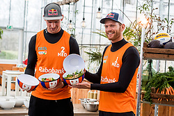 28-03-2018 NED: Kickstart Food van Rabobank, Utrecht<br /> A clever mix of the tastiest seasonal vegetables for the sports public, coming from Dutch local companies. That is the core of the new food program that enables Rabobank and the Nevobo at the Moestuin in Utrecht / Robert Meeuwsen, Alexander Brouwer