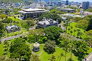 Iolani Palace, State Capitol, Honolulu, Oahu, Hawaii