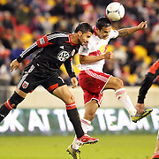 Tim Cahill, Red Bulls and Marcelo Saragosa, D.C. United, (left), in action during the New York Red Bulls V D.C. United Major League Soccer, Eastern Conference Semi Final 2nd Leg match at Red Bull Arena, Harrison. New Jersey. USA. 8th November 2012. Photo Tim Clayton