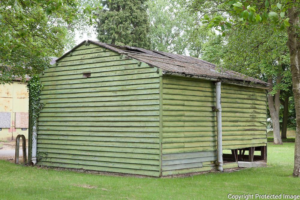 Building 121 Fire Tender & Hucks Starter Shelter. RAF Bicester