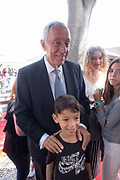 The Portuguese President Marcelo Rebelo de Sousa visits the Lisbon Book Fair on 27th May 2018 in Lisbon, Portugal. The Lisbon Book Fair is one of the oldest cultural festivals held in the capital of Portugal. It was inaugurated in the 1930s, and its traditional location is the Eduardo VII Park, the largest park of Lisbon, located in the vicinity of the monumental Praça Marques de Pombal