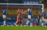Leeds United goalkeeper Illan Meslier (1) in action  during the Premier League match between Everton and Leeds United at Goodison Park, Liverpool, England on 28 November 2020.