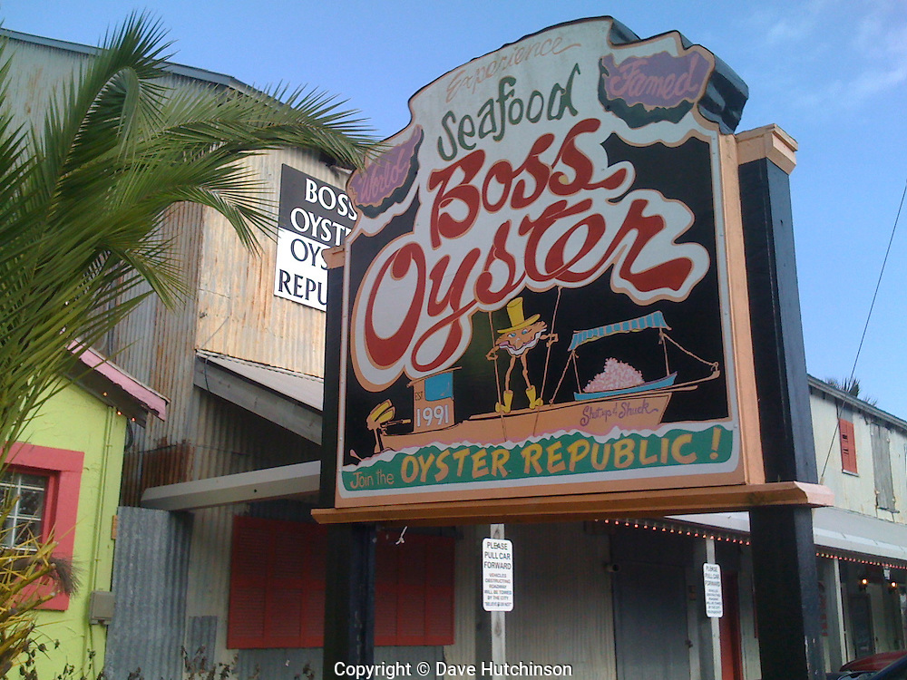 World famous Boss Oyster will spoil you for life.  Fresh Oysters harvested daily in their own boats.