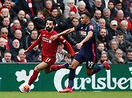 Mohamed Salah of Liverpool tackled by Junior Stanislas of Bournemouth during the Premier League match at Anfield, Liverpool. Picture date: 7th March 2020. Picture credit should read: Darren Staples/Sportimage