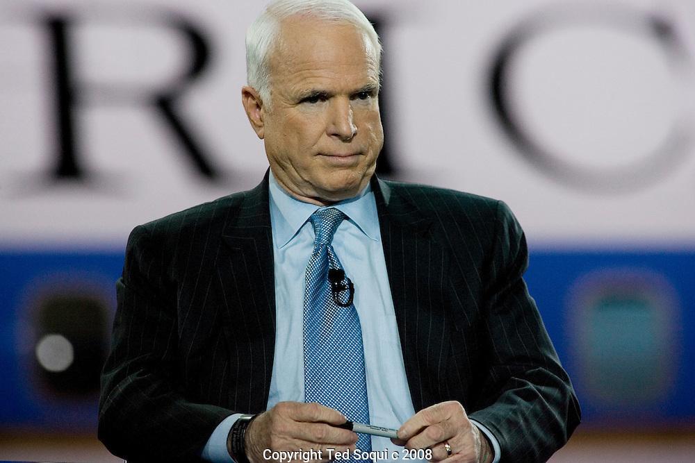 Senator John McCain..GOP debate held at the Ronald Reagan Presidential Library in Simi Valley.