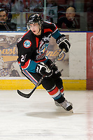 KELOWNA, CANADA, DECEMBER 3: Colton Heffley #25 of the Kelowna Rockets skates on the ice as the Prince George Cougars visit the Kelowna Rockets  on December 3, 2011 at Prospera Place in Kelowna, British Columbia, Canada (Photo by Marissa Baecker/Shoot the Breeze) *** Local Caption ***