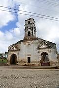 Cuba, Trinidad. Facade of the 18th. Century Santa Ana Church