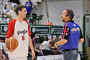 DESCRIZIONE : Campionato 2014/15 Serie A Beko Dinamo Banco di Sardegna Sassari - Grissin Bon Reggio Emilia Finale Playoff Gara6<br /> GIOCATORE : Federico Pasquini Drake Diener<br /> CATEGORIA : Fair Play Before Pregame<br /> SQUADRA : Dinamo Banco di Sardegna Sassari<br /> EVENTO : LegaBasket Serie A Beko 2014/2015<br /> GARA : Dinamo Banco di Sardegna Sassari - Grissin Bon Reggio Emilia Finale Playoff Gara6<br /> DATA : 24/06/2015<br /> SPORT : Pallacanestro <br /> AUTORE : Agenzia Ciamillo-Castoria/C.Atzori