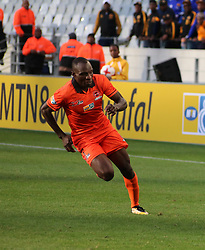 Polokwane City striker Rodney Ramagalela against Cape Town City in an MTN8 quarter-final match at the Cape Town Stadium on August 12, 2017 in Cape Town, South Africa.