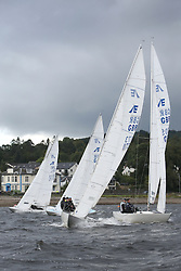Marine Blast Regatta 2013 - Holy Loch SC<br /> <br /> Etchells Start with Defiance<br /> <br /> Credit: Marc Turner / PFM Pictures