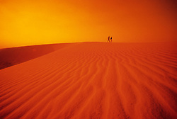 Desert sand dunes outside of Hofuf, Saudi Arabia.