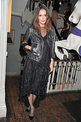 SASHA VOLKOVA at a carnival themed party hosted by Stacey Bendet for the Alice & Olivia fashion label at Paradise, Kensal Green, London on 9th November 2011
