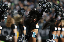 A Philadelphia Eagles Cheerleader performs during the NFL game between the Philadelphia Eagles and the New York Giants on Sunday, October 27th 2013 in Philadelphia. The Giants won 15-7. (Photo by Brian Garfinkel)
