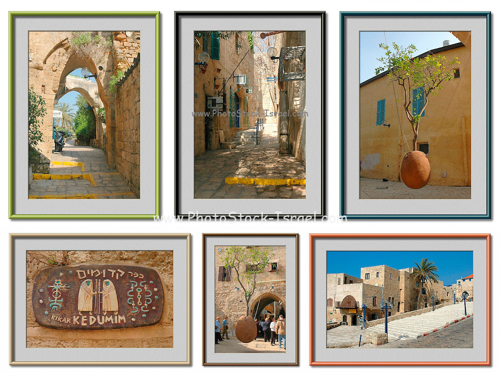 6 image collage of Jaffa, Israel