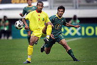 Fotball<br /> FIFA World Youth Championships 2005<br /> Nederland<br /> Foto: ProShots/Digitalsport<br /> NORWAY ONLY - ONLY FOR NORWEGIAN CLIENTS<br /> <br /> 10.06.2005 i Kerkrade<br /> Benin v Australia 1-1<br /> <br /> romualde boco en vince lia