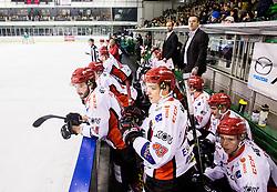 Luka Kraigher of Jesenice during ice hockey match between  HK SZ Olimpija and HDD SIJ Acroni Jesenice in 23rd Round of AHL - Alps Hockey League 2017/18, on December 16, 2017 in Hala Tivoli, Ljubljana, Slovenia. Photo by Vid Ponikvar / Sportida