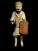 Warrior shield. Eastern Han dynasty (25-220 AD) terracotta China (North), Shaanxi Province