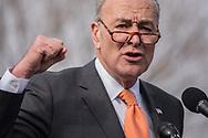 Washington, DC. Sen. Schumer speaks against the GOP tax plan on Capitol Hill. Nov. 2017.
