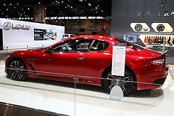 12 February 2015:  Maserati Gran Turismo. <br /> <br /> First staged in 1901, the Chicago Auto Show is the largest auto show in North America and has been held more times than any other auto exposition on the continent. The 2015 show marks the 107th edition of the Chicago Auto Show. It has been  presented by the Chicago Automobile Trade Association (CATA) since 1935.  It is held at McCormick Place, Chicago Illinois