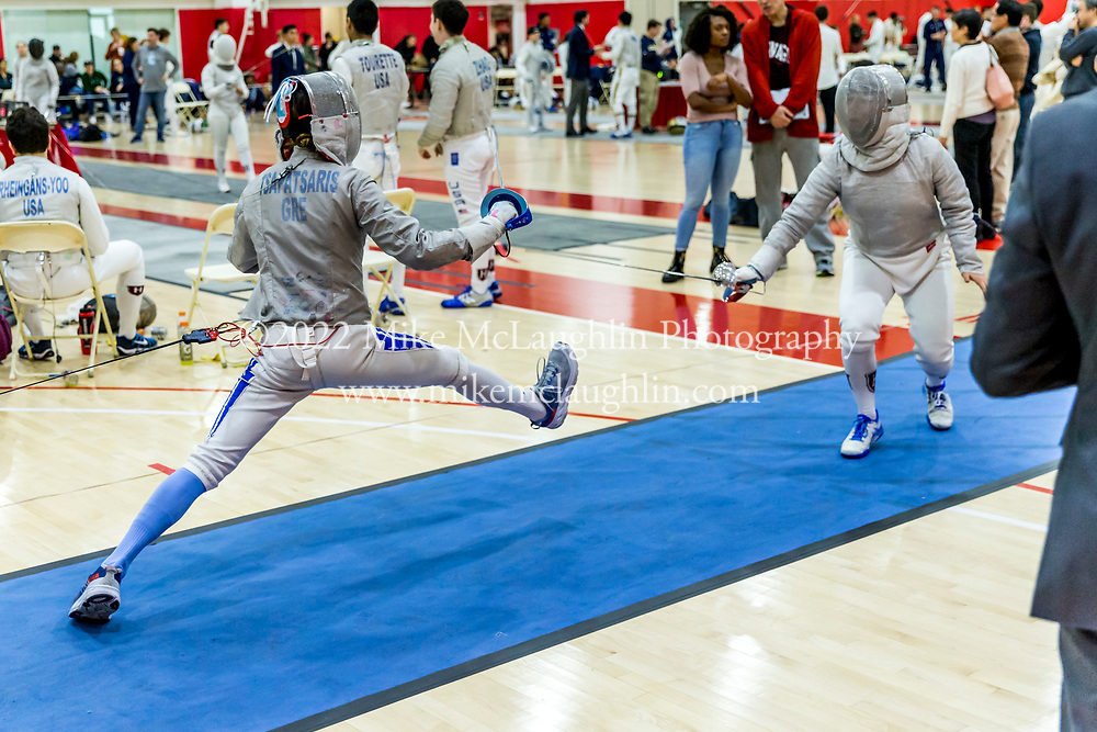 January 18, 2020 Queens, NY<br /> Columbia University fencing team competes against St. John's in the St. John's Super Cup at St. John's University in Queens, New York.<br /> 2019 Mike McLaughlin<br /> https://mclaughlin.photoshelter.com/<br /> Mike McLaughlin