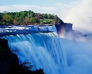 The American Falls, 180 feet high, Niagara Reservation State Park, Niagara Falls, New York.