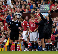 Photo: Jed Wee.<br />Manchester United v Seville. Pre Season Friendly. 12/08/2006.<br /><br />Manchester United's Ole Gunnar Solskjaer (20) waits to make an appearance as a substitute.