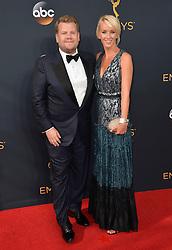 James Corden & Julia Carey bei der Verleihung der 68. Primetime Emmy Awards in Los Angeles / 180916<br /> <br /> *** 68th Primetime Emmy Awards in Los Angeles, California on September 18th, 2016***